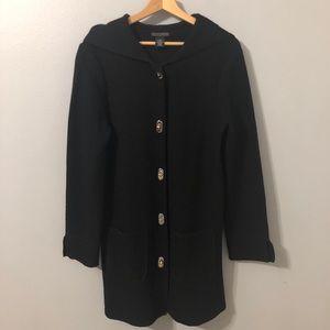 Lauren Hansen 100% Wool Duster Jacket/Sweater Sz M